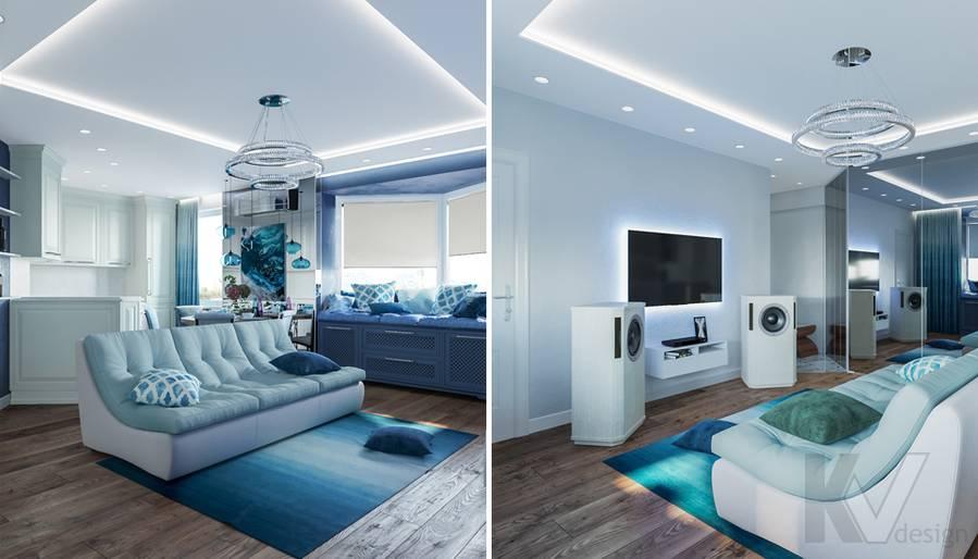 Дизайн гостиной в квартире на Ленинском проспекте - 4