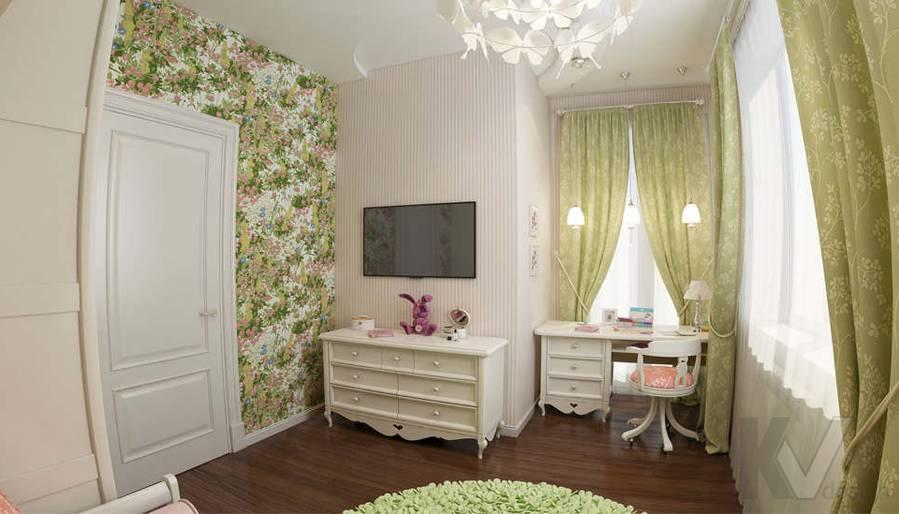 дизайн комнаты девочки в ЖК Лосиный Остров - 3