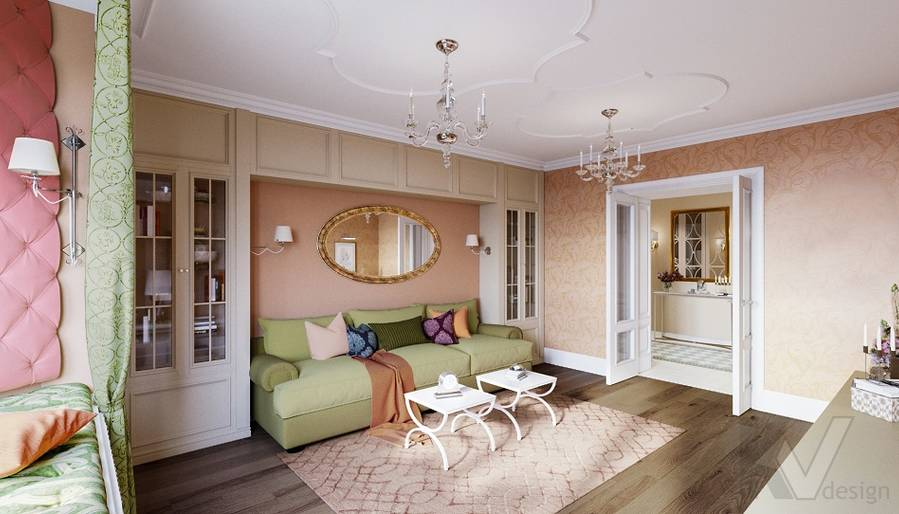 Дизайн гостиной в квартире на м. Смоленская - 3