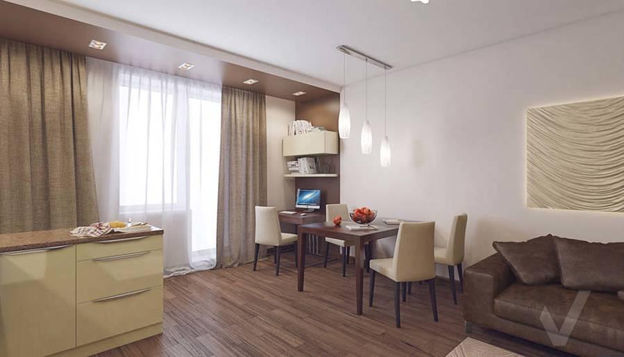 Дизайн гостиной в 2-комнатной квартире, Реутов - 2