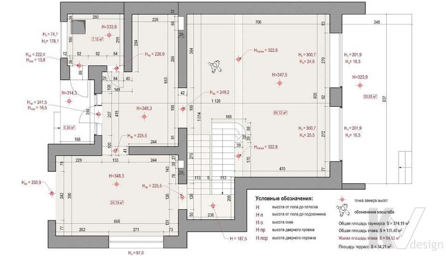Планировка 1-го этажа дома, КП «Парк Авеню»