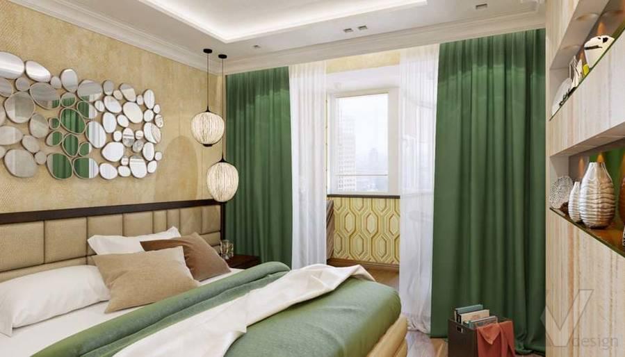 дизайн спальни в четырехкомнатной квартире П-3М - 2