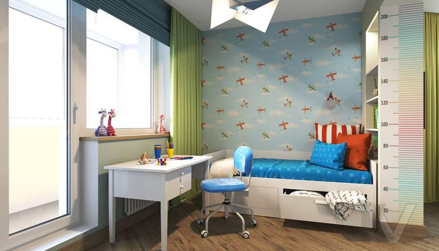Дизайн детской в 2-комнатной квартире, Некрасовка Парк - 6