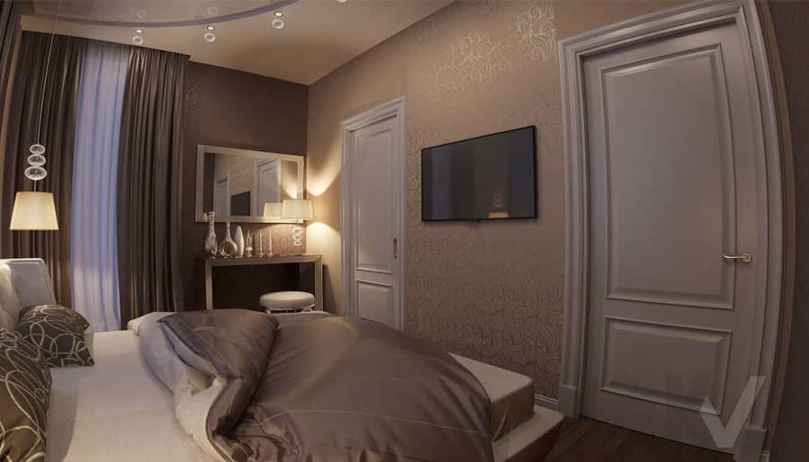 дизайн спальни в ЖК Лосиный Остров - 2