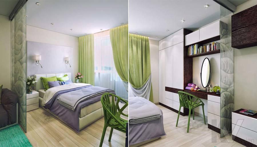 дизайн гостиной-спальни серии П-3, Новое Ясенево - 4