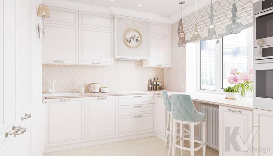 Дизайн кухни в квартире серии П-3, м. Братиславская - 1