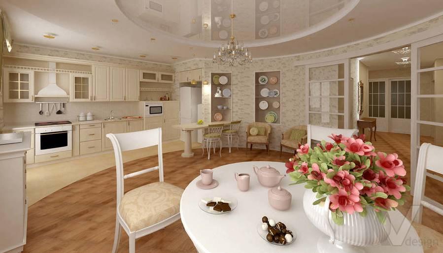 Дизайн 4-комнатной квартиры, Одинцово, столовая