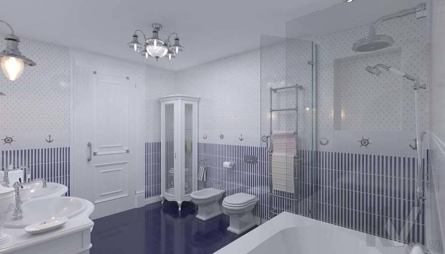 Дизайн детской ванной в доме, КП «Парк Авеню» - 3