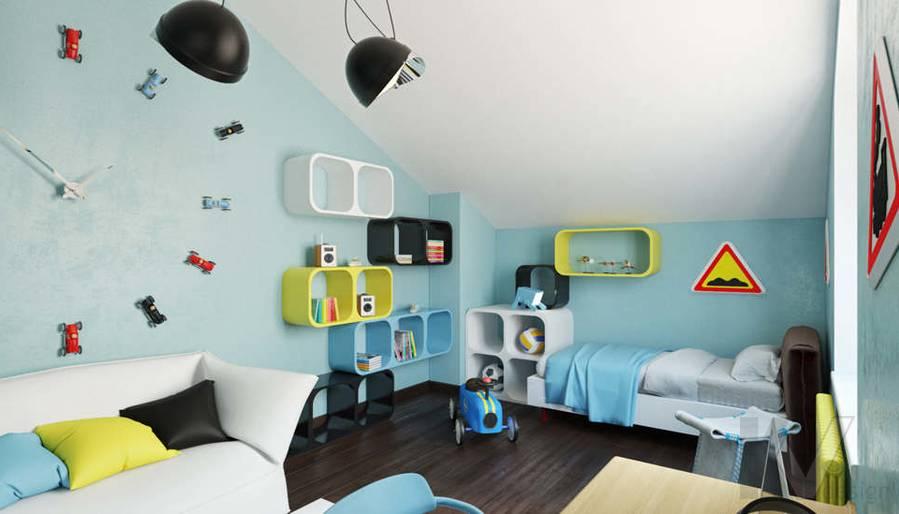 Дизайн комнаты мальчика в доме, КП Пестово - 6