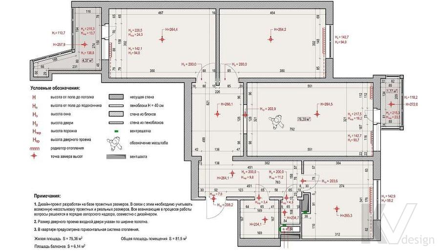 Планировка 3-комнатной квартиры П-3М, Новое Ясенево