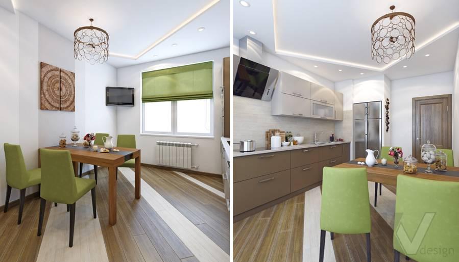 Дизайн кухни в 4-комнатной квартире, м. Киевская - 2