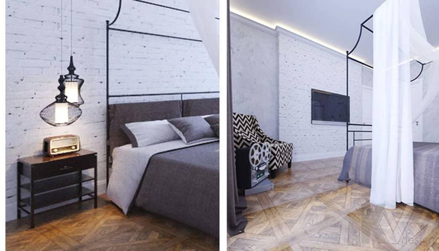 Дизайн хозяйской спальни в доме, КП Монтевиль - 4