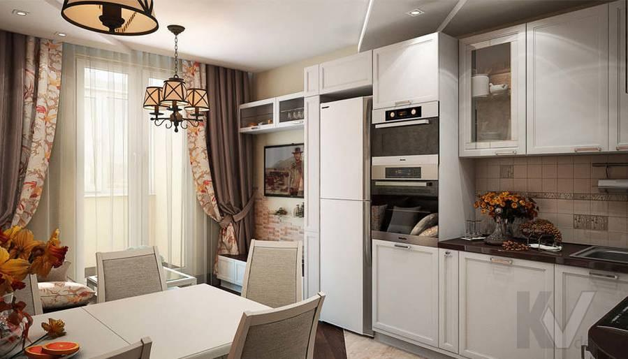 дизайн гостиной-кухни, Одинцово - 1