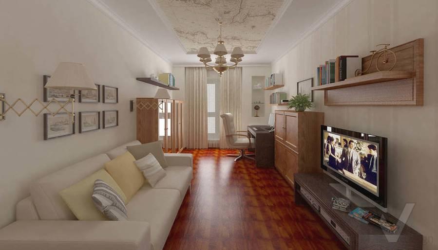 Дизайн 4-комнатной квартиры, Одинцово, кабинет