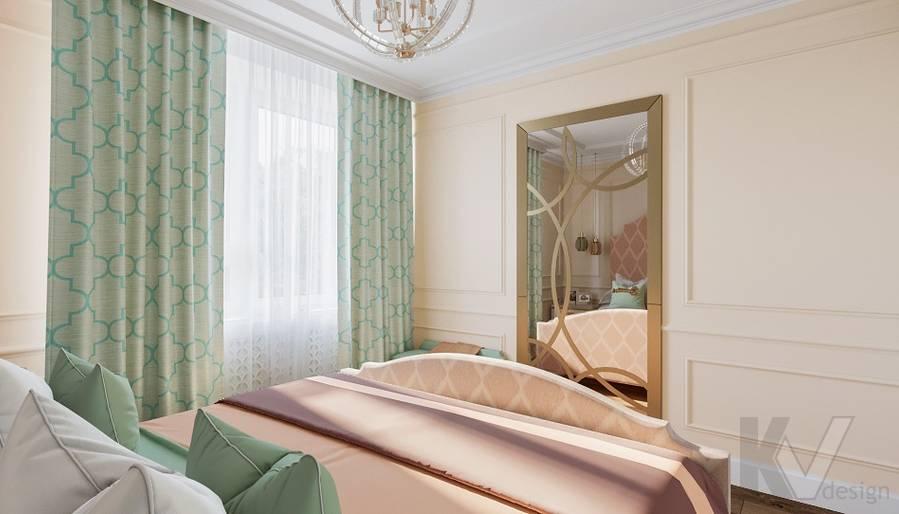 Дизайн спальни в квартире на м. Смоленская - 3