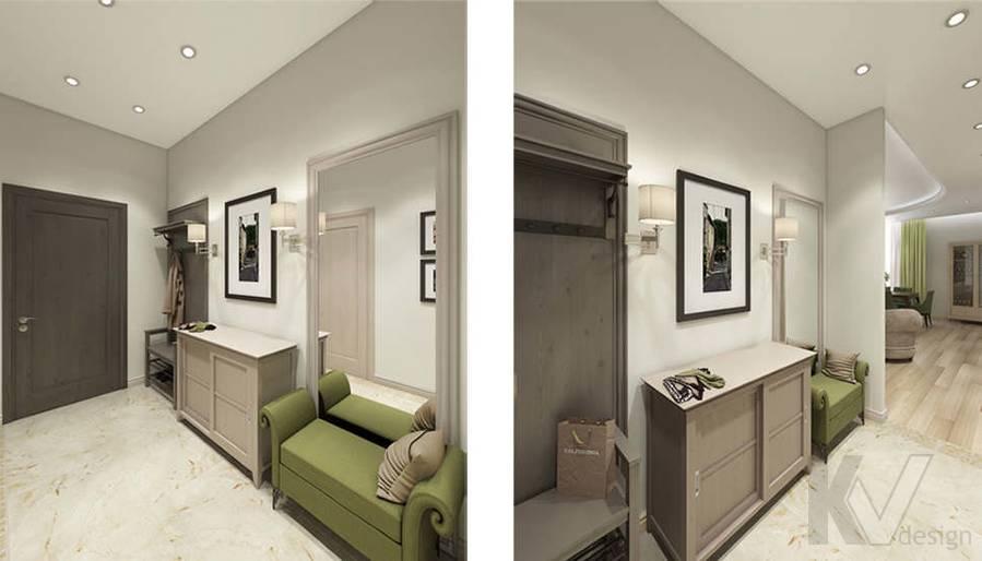 """Дизайн прихожей в 2-комнатной квартире, ЖК """"Авеню 77"""" - 1"""