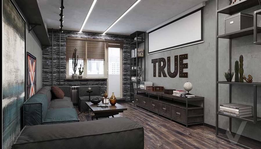 Дизайн гостиной в квартире П-44, м. Кузьминки - 3
