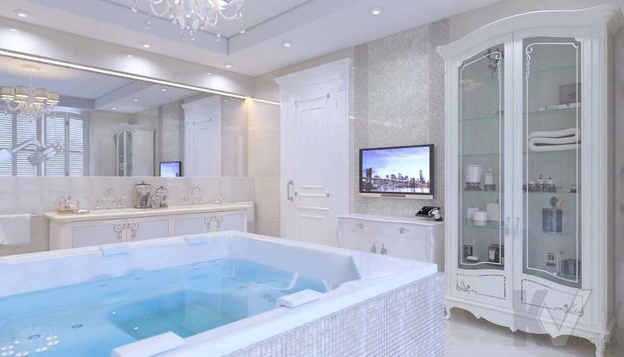 Дизайн ванной комнаты в доме, КП «Парк Авеню» - 3
