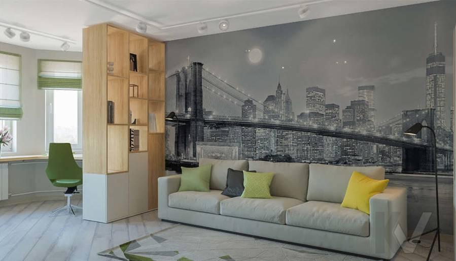 дизайн гостиной в 3-комнатной квартире, Войковская - 1