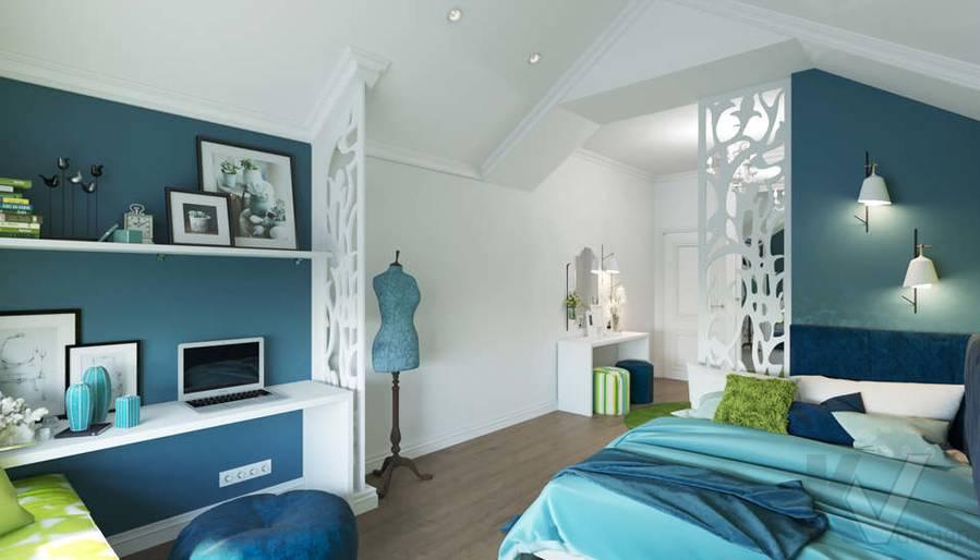 Дизайн спальни в коттедже, КП «Vita Verde» - 7