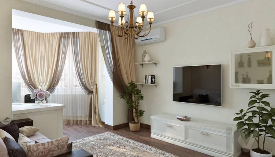 Гостиная в 3-комнатной квартире П-44Т, Люблино - 1