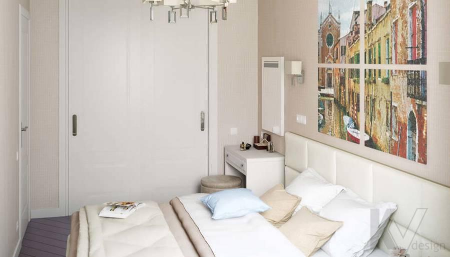 Дизайн 3 комнатной квартиры ЖК Богородский, спальня - 2