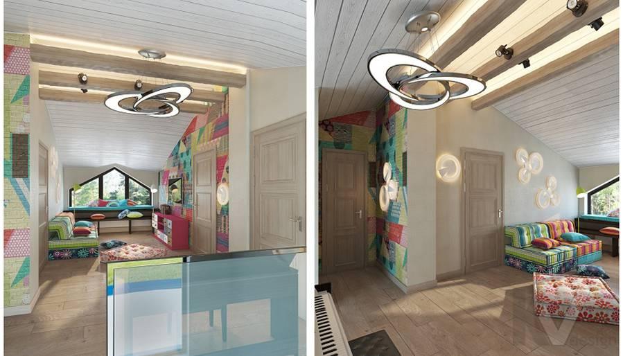 Дизайн игровой комнаты в трехэтажном доме - 1