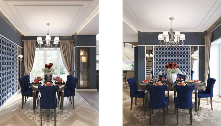 Дизайн столовой в коттедже, КП «Vita Verde» - 3