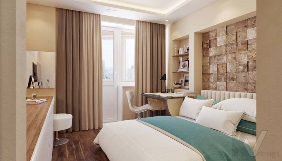дизайн комнаты девушки в четырехкомнатной квартире П-3М - 4