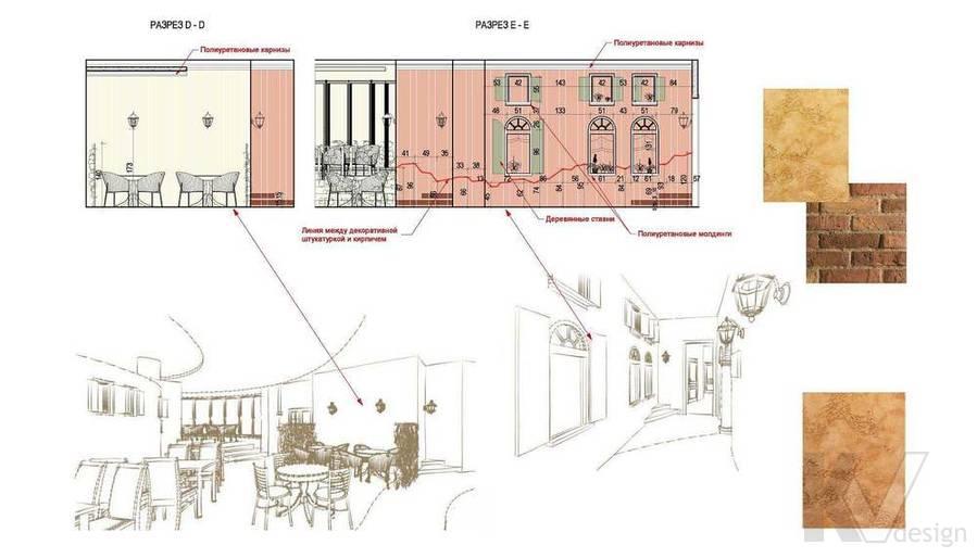 Дизайн ресторана, разрез-1