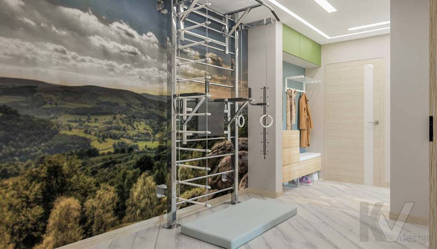 дизайн холла в 3-комнатной квартире, Войковская