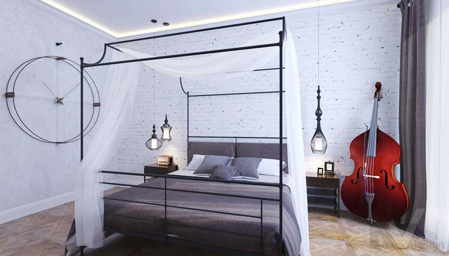 Дизайн хозяйской спальни в доме, КП Монтевиль - 1