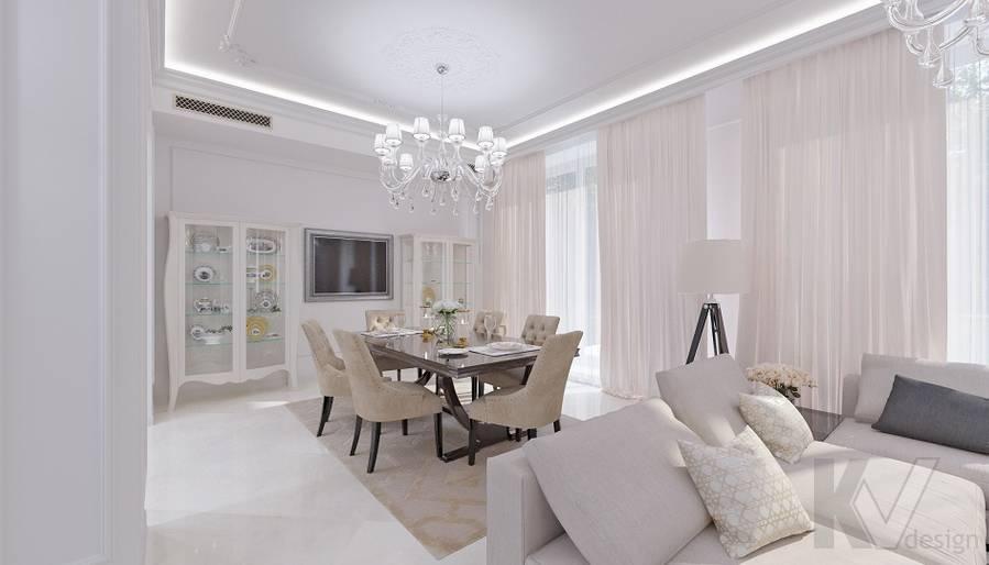 Дизайн гостиной в доме в КП «Парк Авеню» - 4