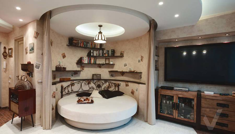 дизайн однокомнатной квартиры - фото гостиной 1
