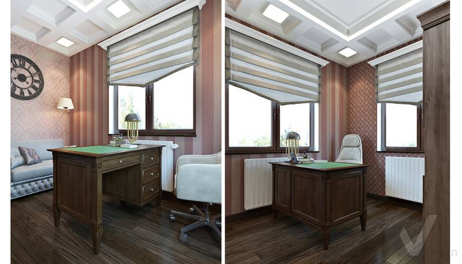 Дизайн кабинета в трехэтажном доме - 4