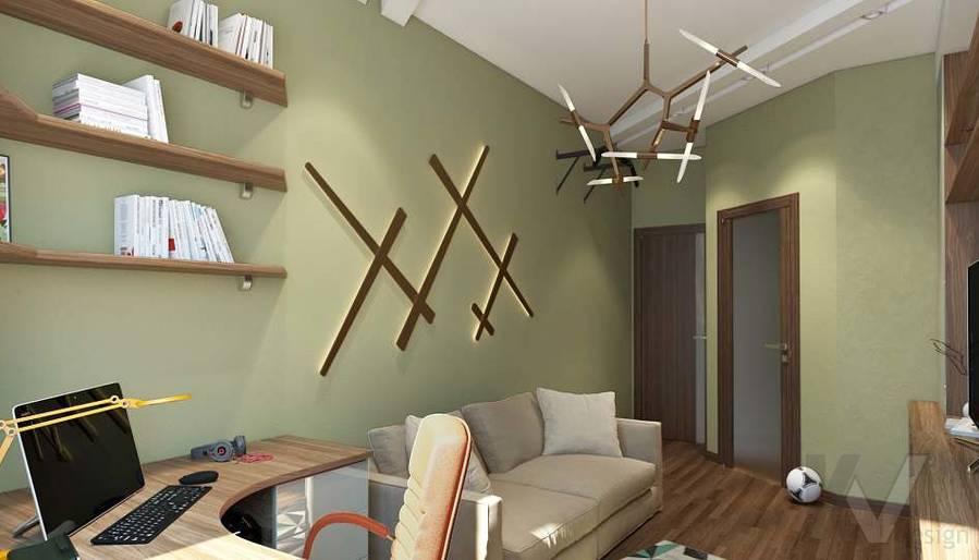 Дизайн комнаты подростка в двухкомнатной квартире, ЖК Розмарин - 1