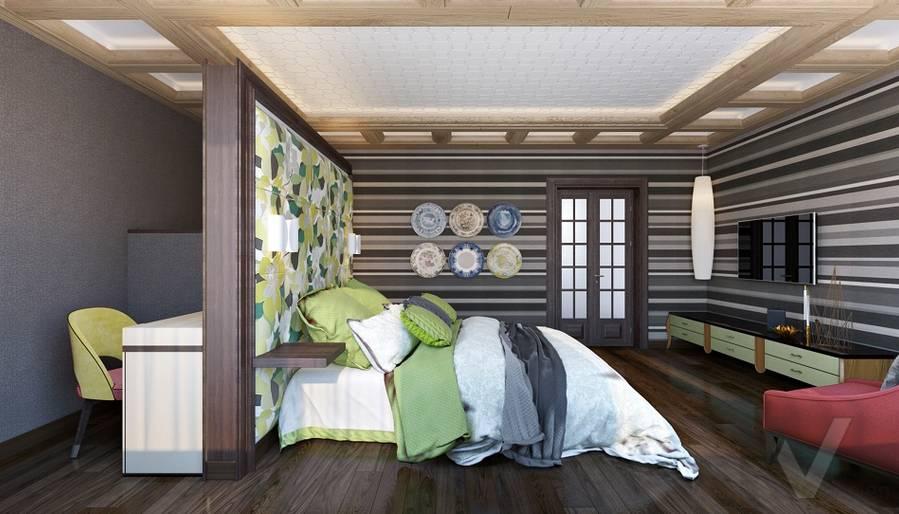 Дизайн спальни в трехэтажном доме - 5