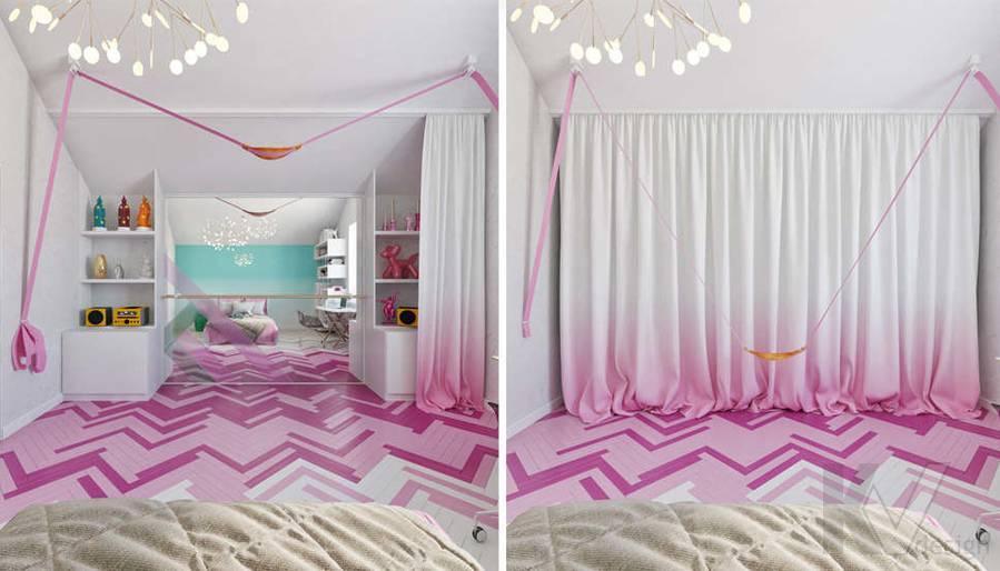 Дизайн комнаты девочки в доме, КП Пестово - 1