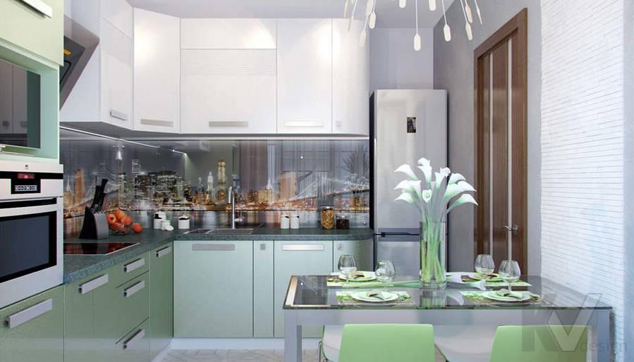 Дизайн кухни в 2-комнатной квартире - 1