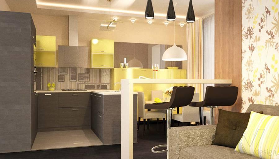 Дизайн кухни в 2-комн. квартире, Подольск - 1