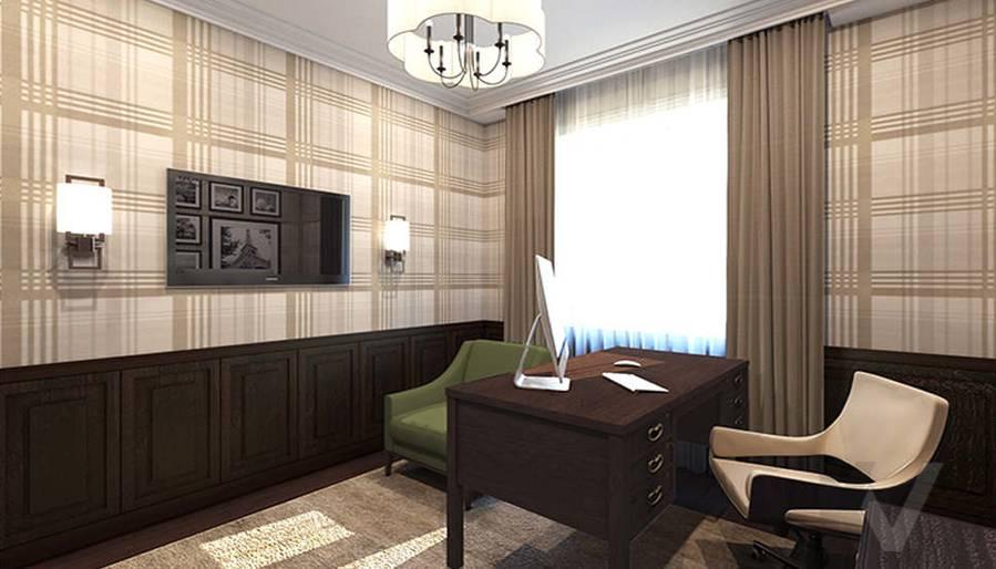дизайн кабинета в 3-комнатной квартире, Welton Park - 1