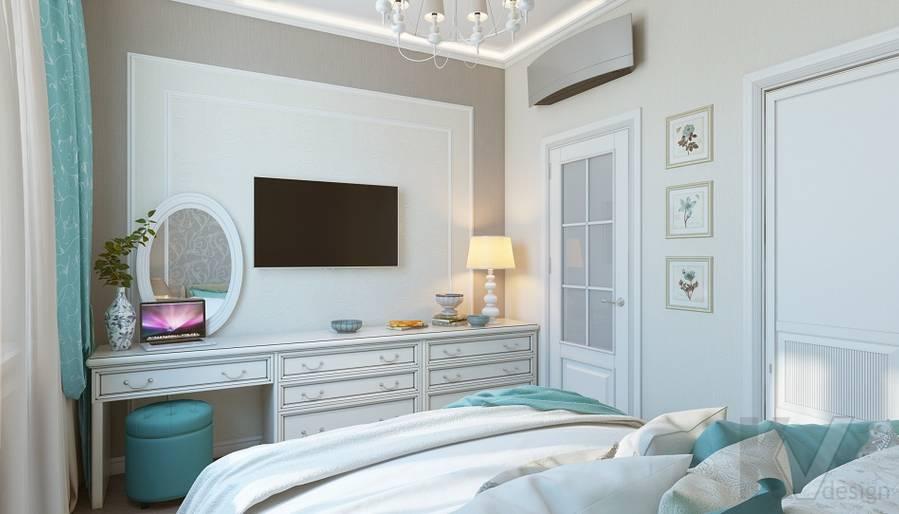 дизайн спальни в 3-комнатной сталинке, ВДНХ - 3