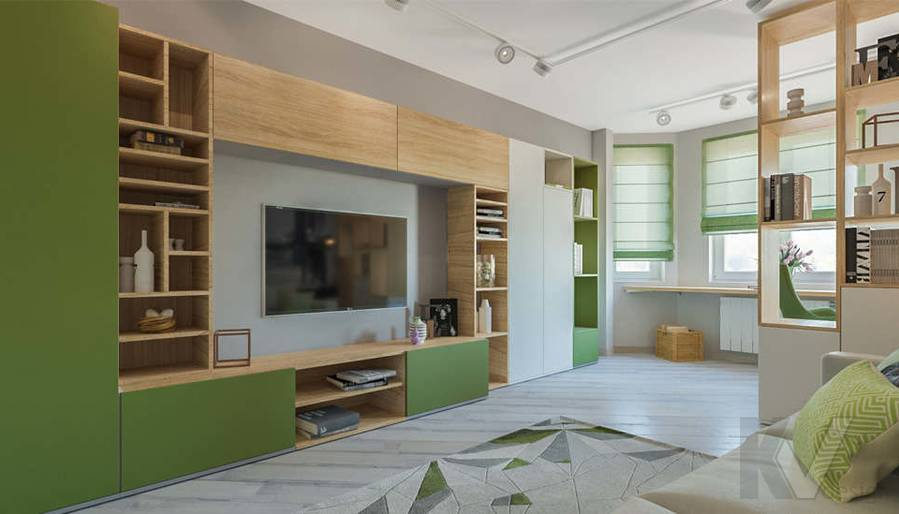 дизайн гостиной в 3-комнатной квартире, Войковская - 3