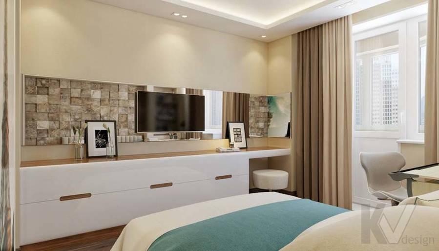 дизайн комнаты девушки в четырехкомнатной квартире П-3М - 5