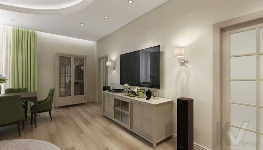 """Дизайн гостиной-кухни в 2-комнатной квартире, ЖК """"Авеню 77"""" - 7"""