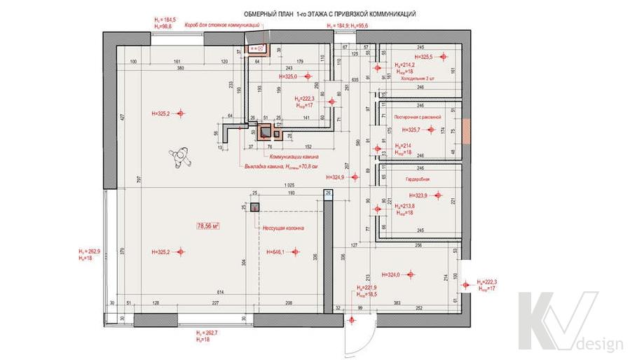 """Планировка в доме 1-го этажа,  КП """"Западная Долина"""""""