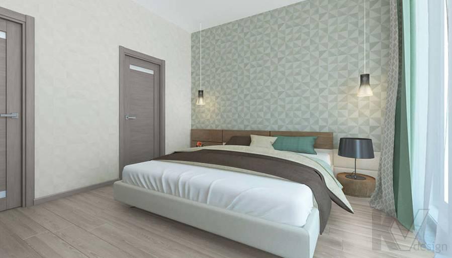 дизайн спальни в 3-комнатной квартире, Троицк - 4