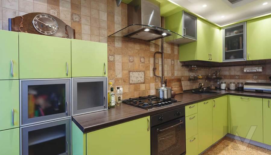 дизайн однокомнатной квартиры - фото кухни 3
