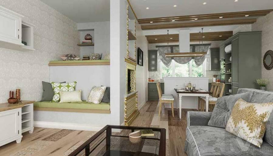 Гостиная в будущем доме в Софрино - 2