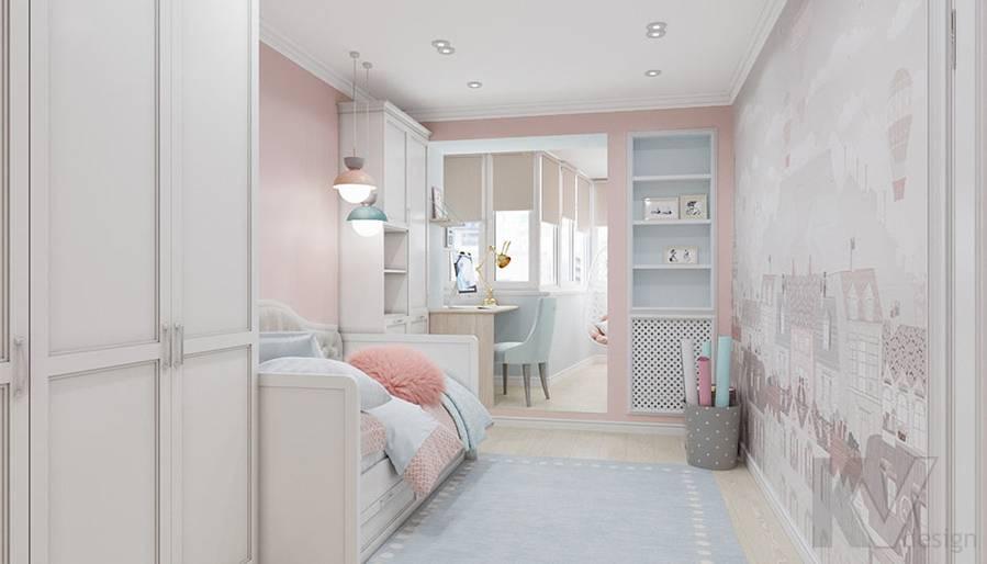 Дизайн детской в квартире серии П-3, м. Братиславская - 1